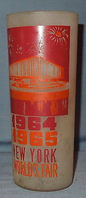 1964 /1965 New York World's Fair Drinking Glass Featuring THE FEDERAL PAVILION