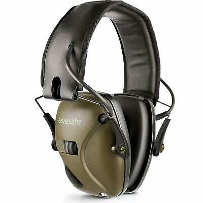 Green Electronic Ear Defenders Comfort Sport Safe Shooting Earmuffs Protection