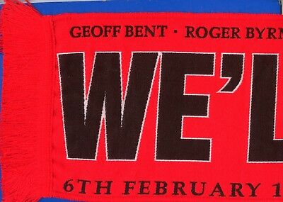 Manchester United Busby Babes We'll Never Die 60th Anniversary SCARF POSTFREE UK