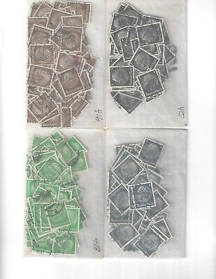 Bulk lot Hindenburg stamps / 1800 stamps in 4 scans / Third Reich / Early 1930s