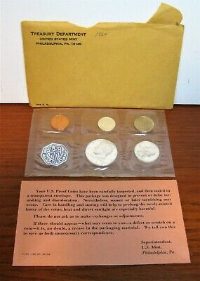 1964 US Mint Sealed Proof Set Silver Coins With Envelope