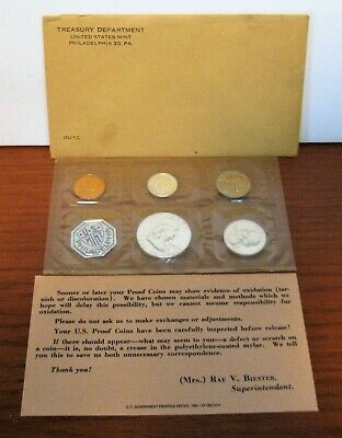 1962 US Mint Sealed Proof Set Silver Coins With Envelope
