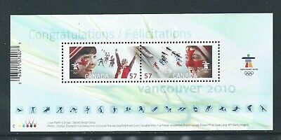 Canada #2373 2010 Celebrating The Olympic Spirit SS MNH ** Free Shipping **