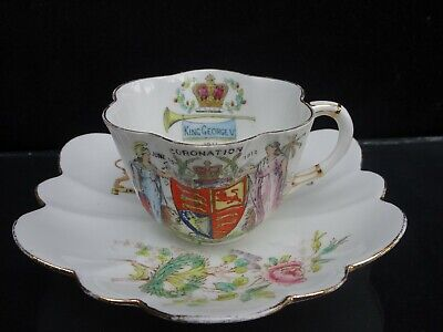 1911 Foley China (Pre-Shelley) Coronation Of King George V Cup & Saucer