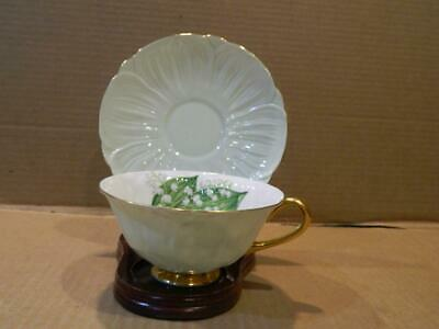 """Shelley """" Lily of the Valley 13832 """" Coffee Cup & Saucer Gold Trim Vintage"""