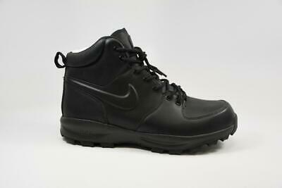 NIKE MANOA BLACK Leather Boots ACG Boots 454350 003 Mens Size 8.5 ... 8aed8e615b7