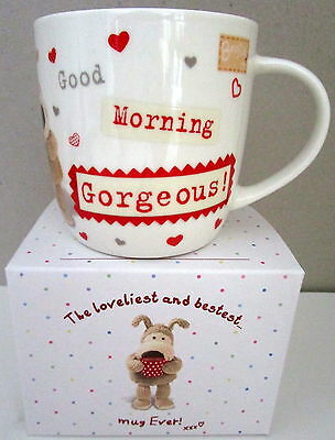 """boofle"" China Mug ""good Morning Gorgeous!"" Gift Boxed! Cute For Valentine's Day"