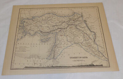 Hellenistic Greece Map.1871 Classical Map Ancient Asia Minor Hellenistic Greece Turkey