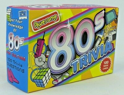 MUSIC 80'S TRIVIA Cards Quiz Game Name That Tune 50