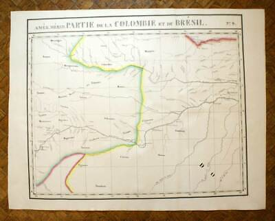 FORET AMAZON COLOMBIA BRAZIL Card geographical America VANDERMAELEN 1827