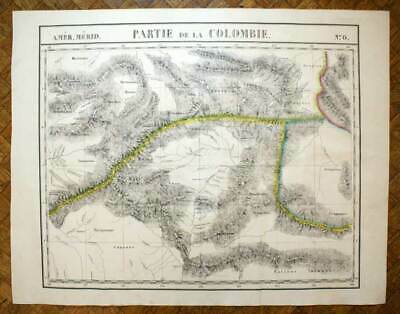 PART OF THE COLOMBIA Card geographical of America n°6 VANDERMAELEN 1827 map