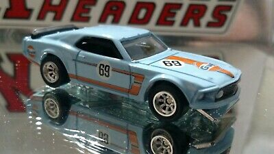 Vintage '69 Ford Mustang Boss Adult Collectible 1/64 Limited Edition Gulf Oil