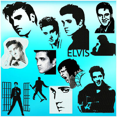 Elvis 12 Machine Embroidery Designs Cd 4 Sizes