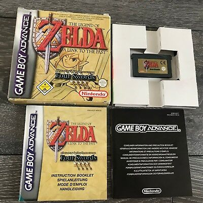 The Legend Of Zelda A Link To The Past Four Swords Game Boy Advance GBA Boxed