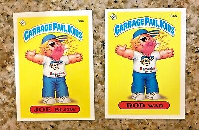GARBAGE PAIL KIDS 3TH SERIES ROD WAD 84a & JOE BLOW 84b USA DIE-CUT 1986