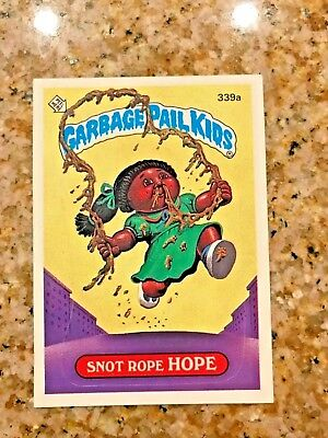 GARBAGE PAIL KIDS 9TH SERIES SNOT ROPE HOPE 339a USA DIE-CUT 1987