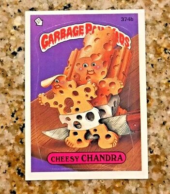 GARBAGE PAIL KIDS 9TH SERIES CHEESY CHANDRA 374b USA DIE-CUT 1987