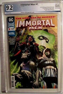 IMMORTAL MEN #1 6/18 PGX GRADED 9.2 1st PRINT JIM LEE COVER & STORY Double Cover