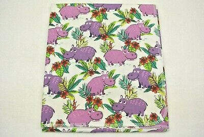 Baby Blanket Hippos Hippopatamus Flowers Can Be Personalized 36x40