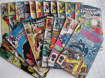19 x The Amazing Spider-Man Marvel 1982-84, numbers 233 to 254, NOT 234,235, 240