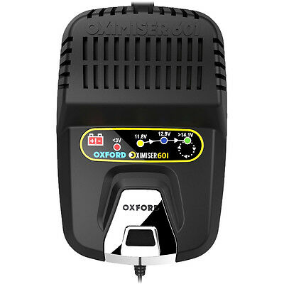 Oxford Oximiser 601 Battery Charger Optimiser 12v Motorcycle Scooter Charger