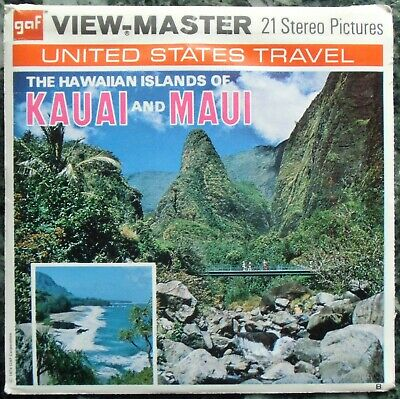 3 View-Master 3D Bildscheiben - Hawaii | Kauai And Maui + Booklet