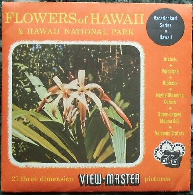 3 View-Master 3D Bildscheiben - Flowers Of Hawaii & Hawaii National Park