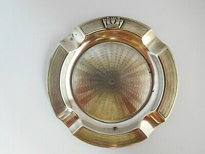 Lovely Art Deco English Sterling Silver Royal Navy Ashtray - Gieves Ltd