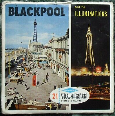 3 View-Master 3D Bildscheiben - Blackpool And The Illuminations