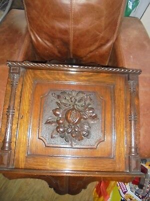 A Pair of Edwardian Hand Carved Oak Wall Hanging Corner Cabinets. Art Nouvea.
