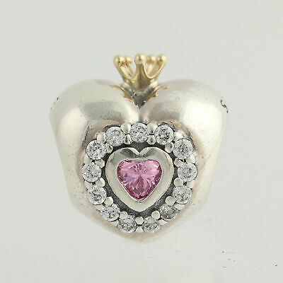 a3ef75353 NEW Pandora Princess Heart Charm - Sterling Silver & 14k Gold 791375PCZ