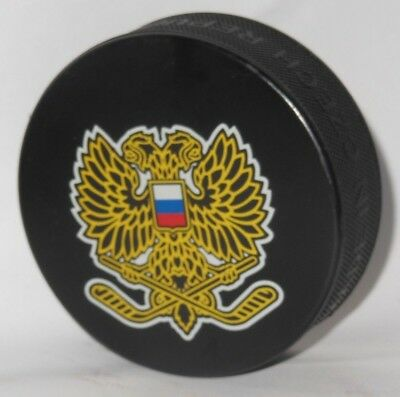 RUSSIA TEAM IIHF @ FEDERATION hockey puck OLYMPIC OVECHKIN MALKIN RED MACHINE