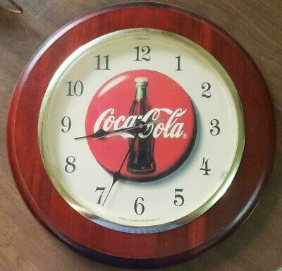 Vintage 1960s Coca Cola Lighted Wall Clock 365 95