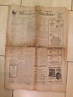Wrexham Advertiser ~ Special Souvenir Edition May 1932 ~ Sport; News; Adverts