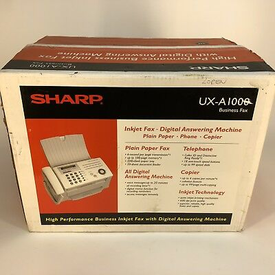 New Sharp Fax Machine UX-A1000 High Performance InkJet with Digital Answering