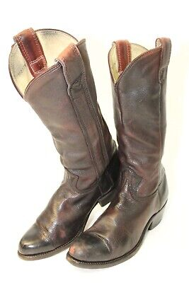 Stewart Hand Made 1977 in Tuscon Arizona USA Mens 10.5 Tall Leather Cowboy Boots