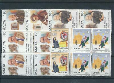 [15147] Malta : Good Lot of Very Fine MNH Stamps in Blocks of 4