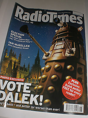 Doctor Who Radio Times rare chance to buy award-winning 'Vote Dalek' cover NEW