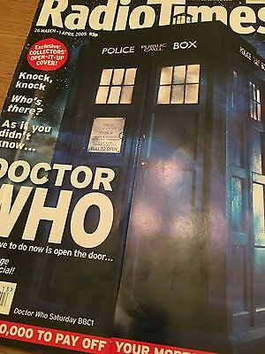 Doctor Who Radio Times 2005 New Series First Episode. Eccleston, Piper, TARDIS