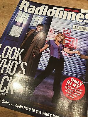 Doctor Who Radio Times 2006 Series 2 Launch Special Tennant Piper Sladen K9 RARE