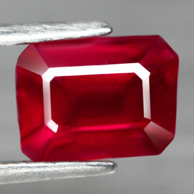2.22 Ct. Octagon Facet Natural Ruby Top Blood Red Madagascar Lovely