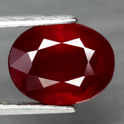 3.64 Ct. Oval Facet Natural Ruby Top Blood Red Madagascar Glorious