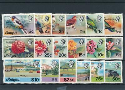 [50563] Barbuda 1977 Flowers Birds good set MNH Very Fine stamps