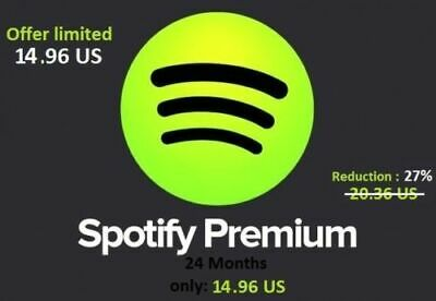 Spotify Premium 2019 / 24 MONTHS -  2 YEARS /   FASTD DELIVERY / Worldwide