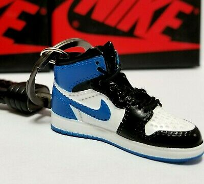differently 04222 67cd7 Air Jordan 1 Retro High Og   blue   Keychain 3D Sneaker Shoe Figure