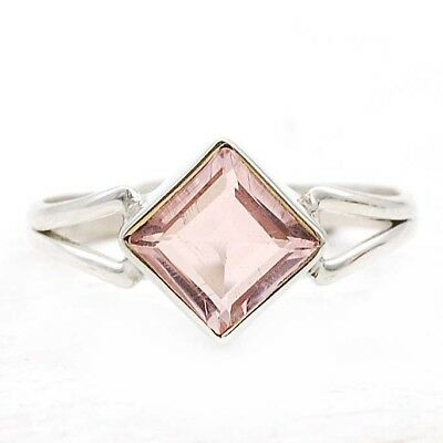 Top Quality Kunzite 925 Solid Sterling Silver Ring Jewelry Sz 8.5