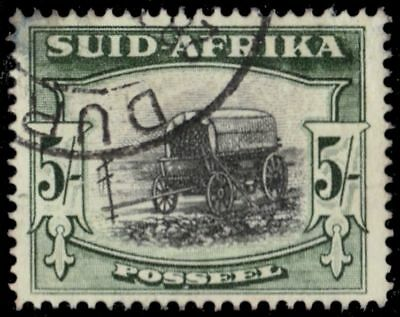 "SOUTH AFRICA 66b (SG122a) - Ox Wagon ""1954 Type II Deep Yellow Green"" (pa82505)"