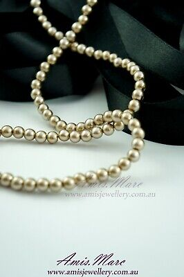 140pcs 6mm Gold Color Faux Imitation Acrylic Round Loose Pearl Beads