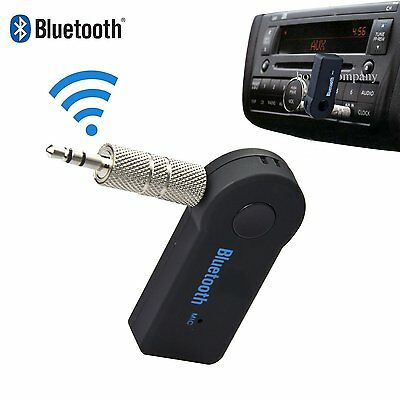 Portable 3.5mm Car A2DP Wireless Bluetooth AUX Audio Music Receiver Adapter