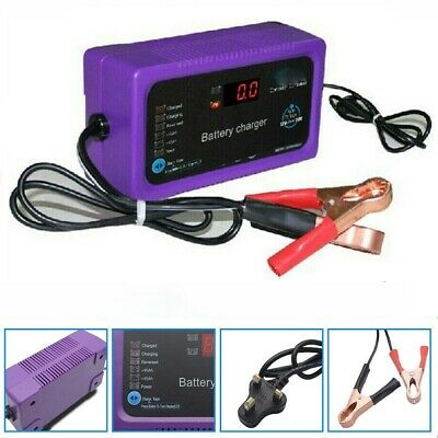 Car Dry & Wet Battery Charger Intelligent 12V 24V Lead Acid Pulse Repair Starter